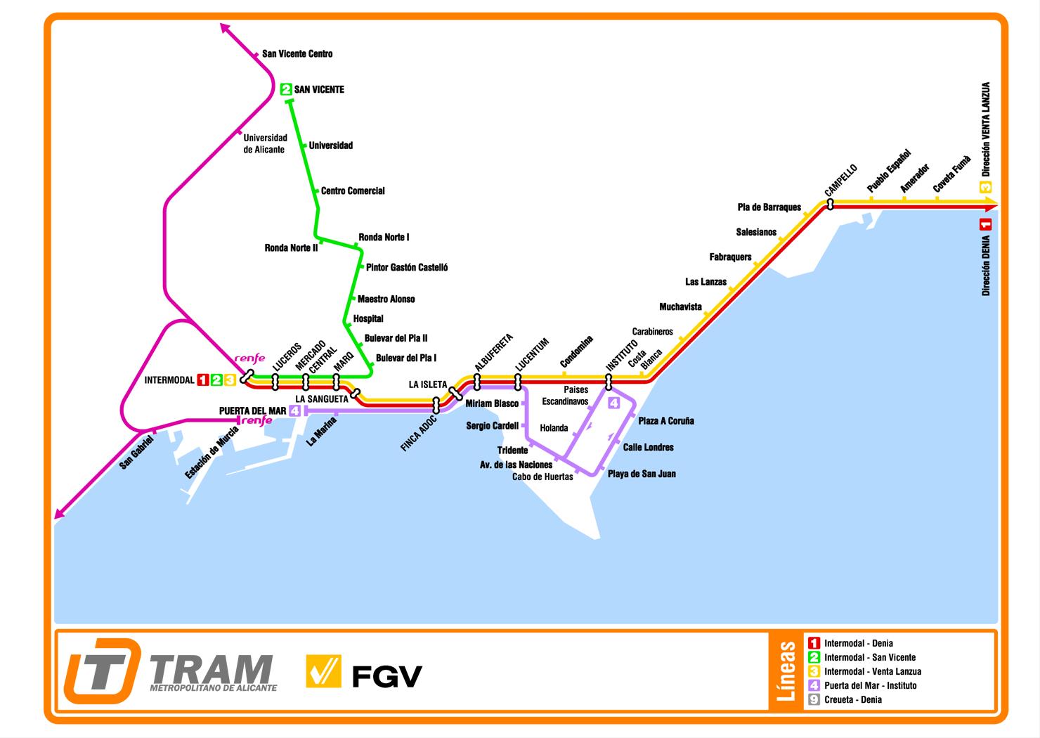 TRAM Metropolitano de Alicante - Wikipedia, la enciclopedia libre