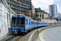 Cambio de vía en el tramo Amaña-Ardanza, en Eibar