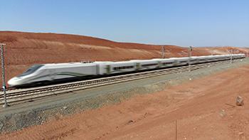 El Talgo Haramain alcanza los 310 km/h en sus pruebas en Arabia Saudí