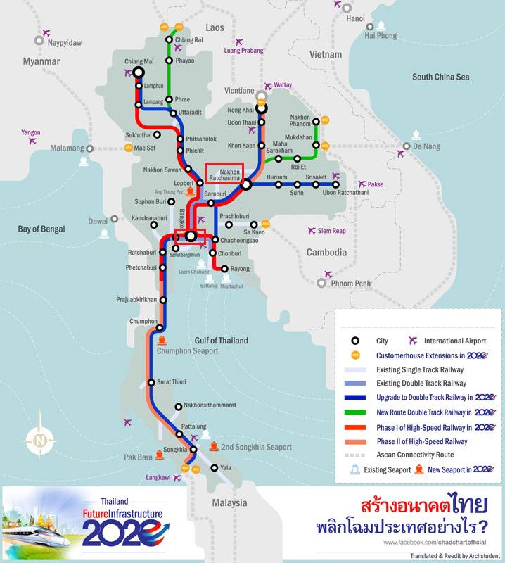 Tailandia aprueba la construcción de su primera línea de alta velocidad