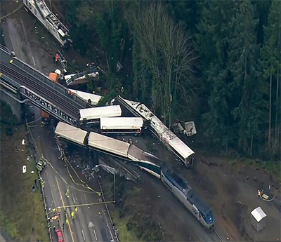 Y van ... : Tres muertos en la re-inauguración de un tren entre Seattle y Portland