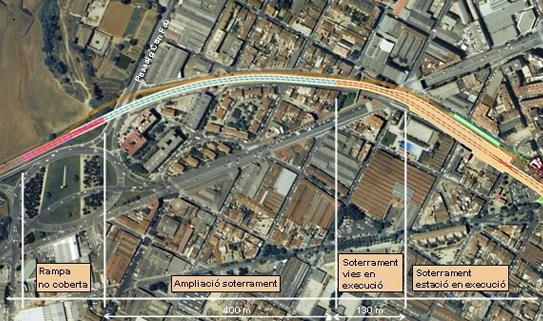 Comienza el soterramiento de la línea de FGC en Sabadell