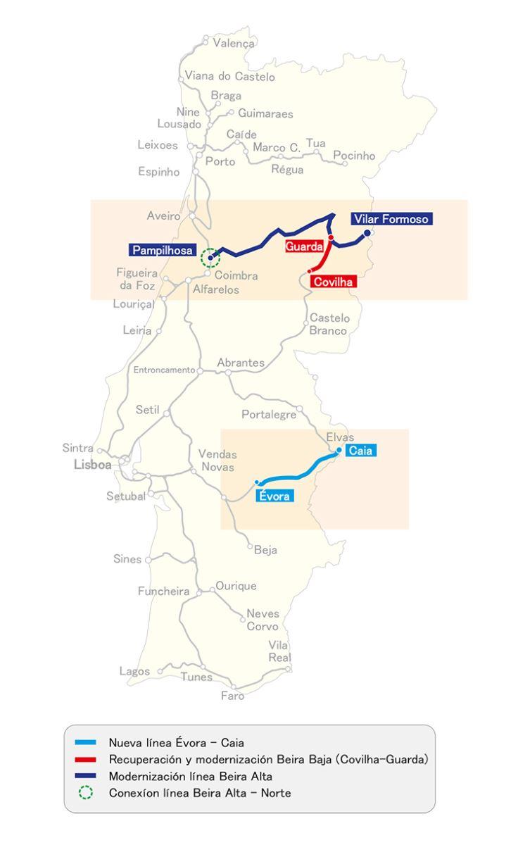 Portugal licita un nuevo tramo de la línea Évora-Caia