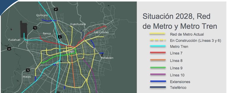 Santiago De Chile Anuncia Oficialmente La Construccion De Nuevas Lineas De Metro
