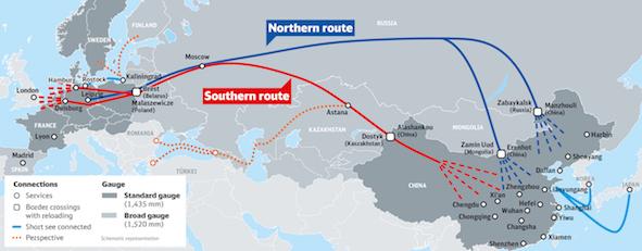 Los Ferrocarriles Alemanes impulsan el Corredor Euroasiático