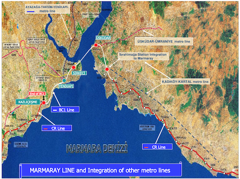 El Corredor de Marmaray, en Turquía, se abrirá en el primer trimestre de 2019