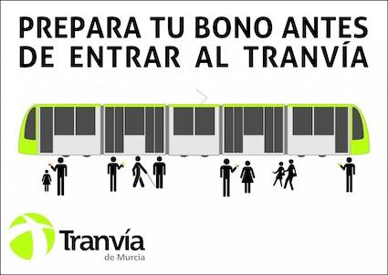 Tranvía de Murcia lanza una campaña para agilizar y mejorar el servicio y la calidad del viaje