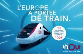 TGV Inoui lanza la campaña Europa a tu alcance