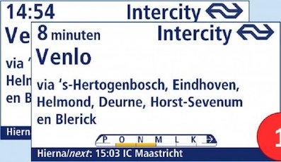 Los Ferrocarriles Holandeses prueban un nuevo sistema de ocupación de asientos
