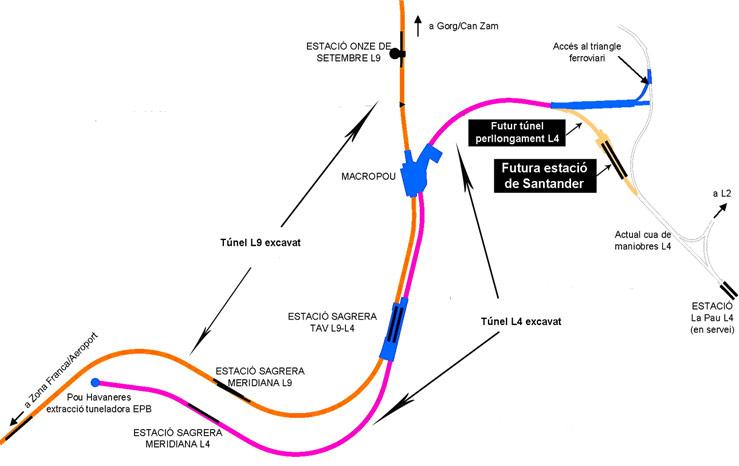 Perllongaments de les línies 5770_L4_Mapa