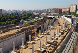 Comienzan las obras de cobertura de la nueva estación barcelonesa de Sant Andreu Comtal