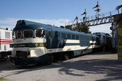 La locomotora 354-001 llega al Museo del Ferrocarril de Cataluña